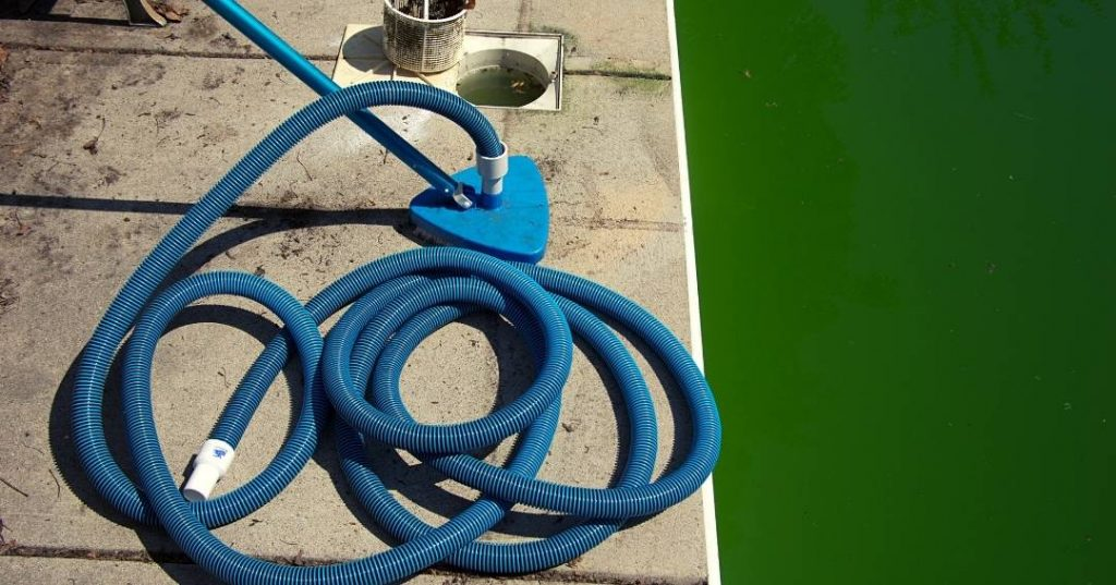 Vacuuming Pool with a Garden Hose