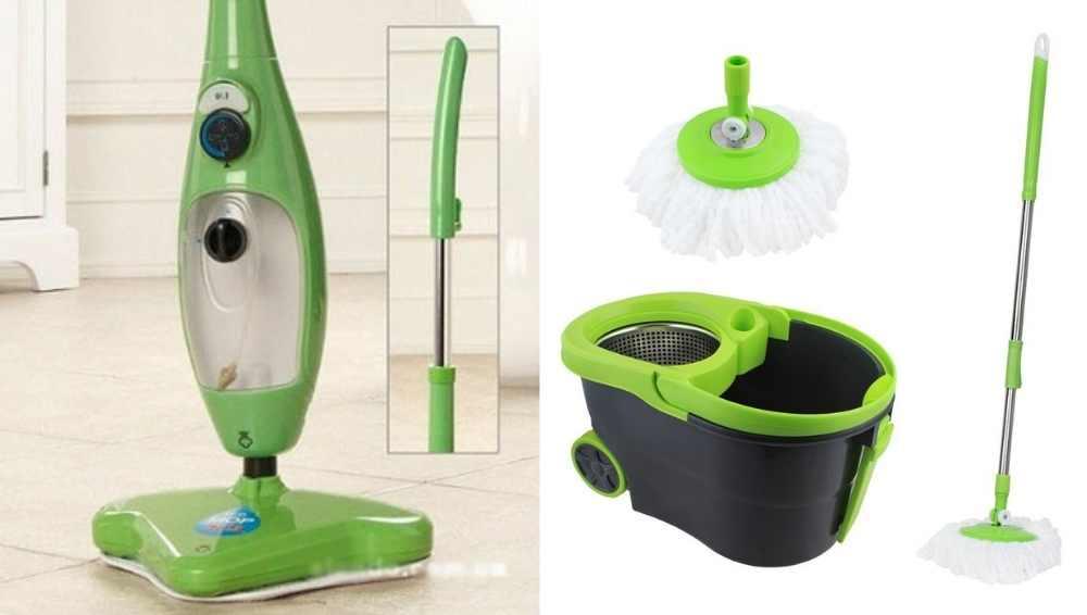 Steam mop vs Spin mop
