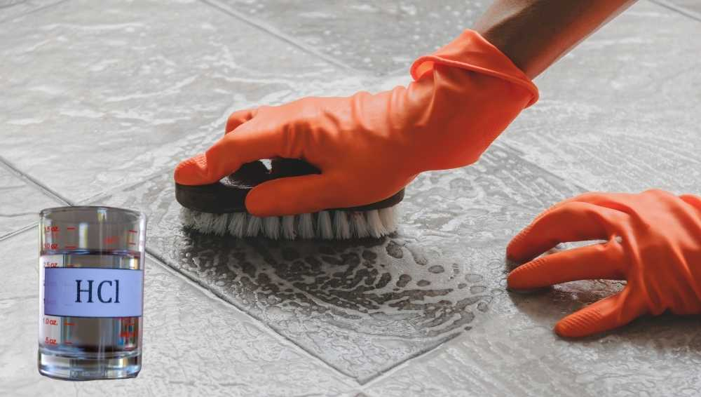 Using hydrochloric acid to clean concrete